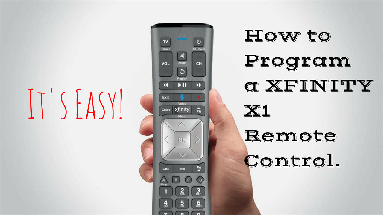 How To Program Your Xfinity X1 Remote Control Vandruff Home